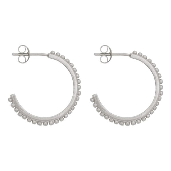 TINY DOTS HOOPS silver