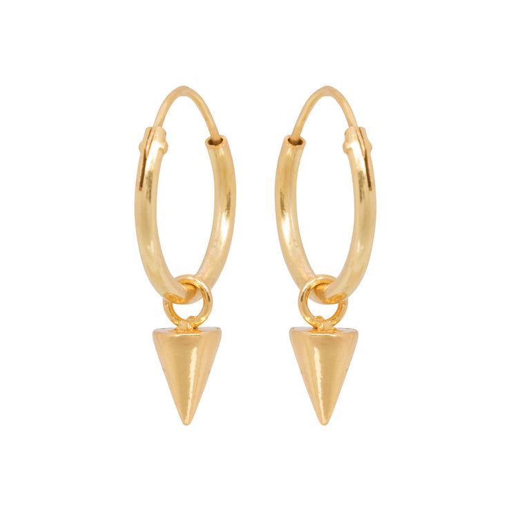 CONE HOOPS gold