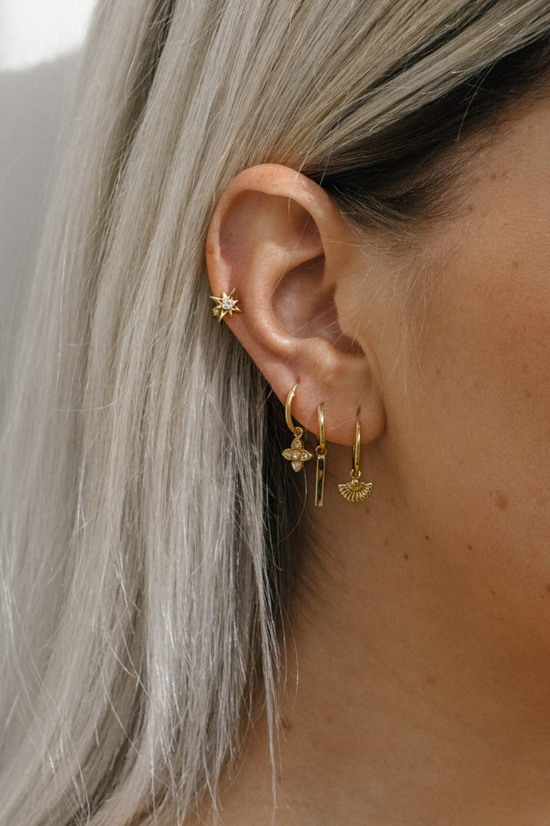 DECO WEAVER HOOPS gold