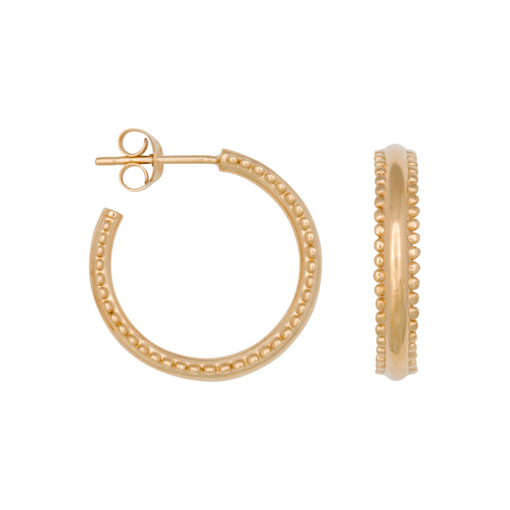 DOUBLE DOTS HOOPS gold