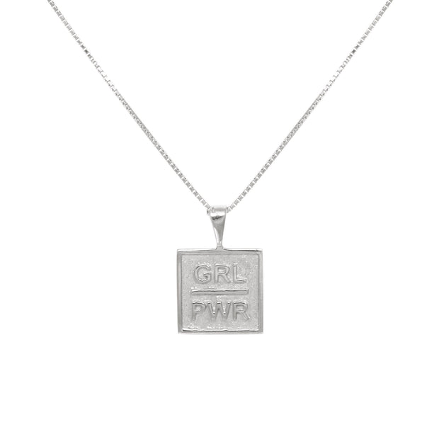 GIRL POWER ketting silver