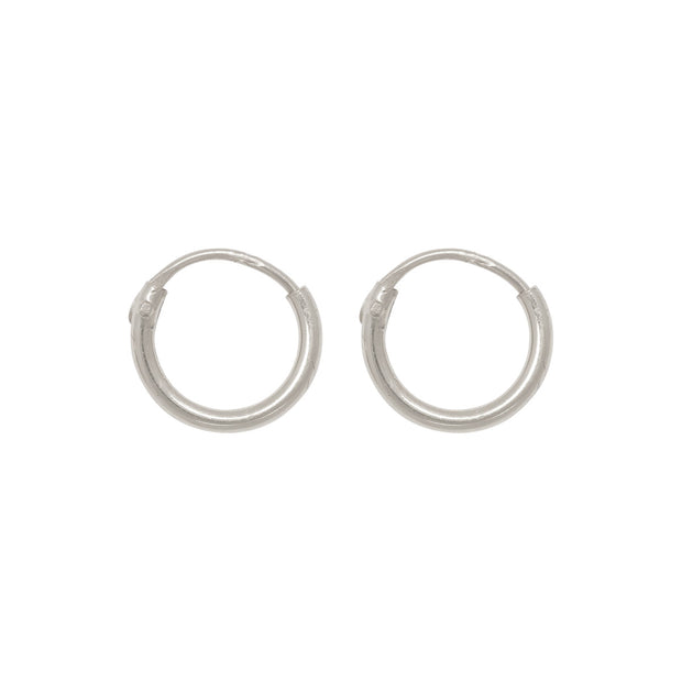 TINY HOOPS 8mm silver