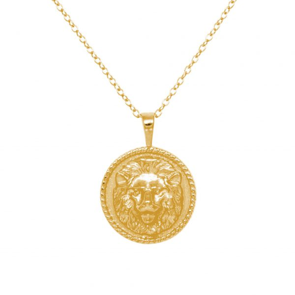 LION NECKLACE gold plated