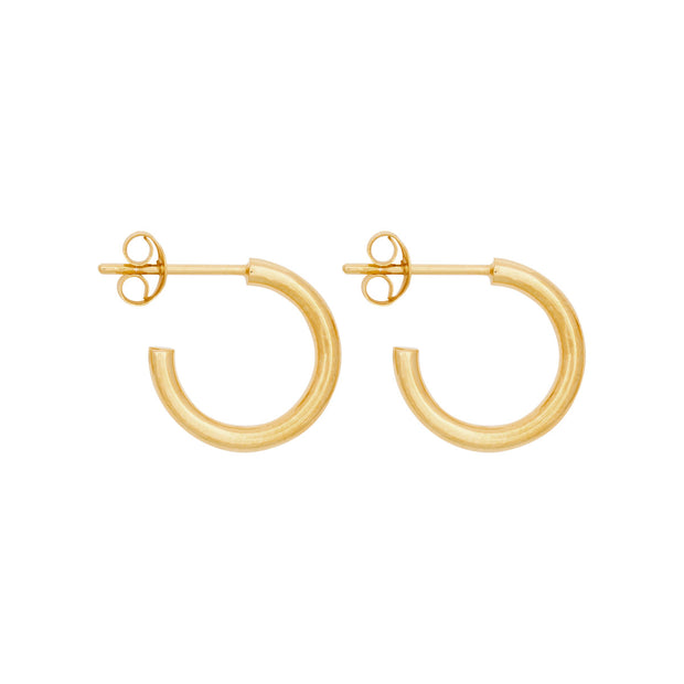 MIDI HOOPS 14mm gold