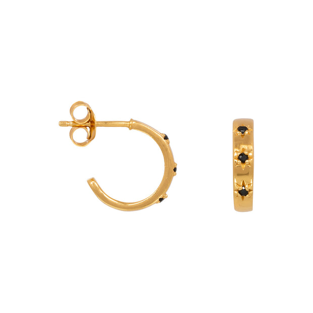 MIDI STAR HOOPS gold