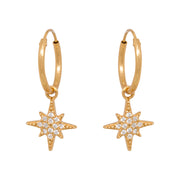 NORTH STAR ZIRCONIA HOOPS gold