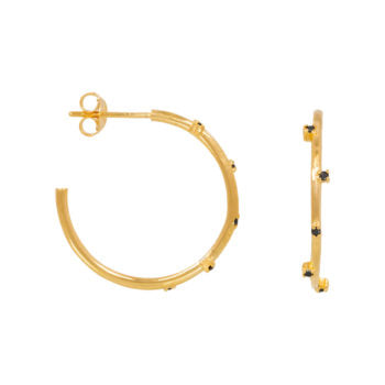 STARDUST HOOPS gold plated