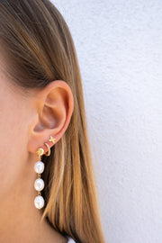 STATEMENT PEARL earring silver