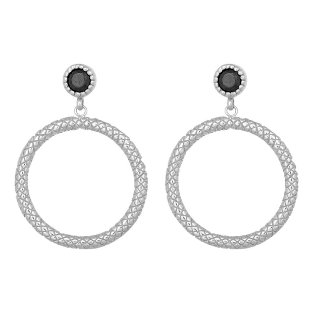 STATEMENT SNAKE earring silver