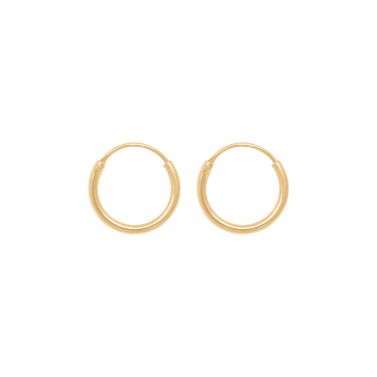 TINY HOOPS 10mm gold