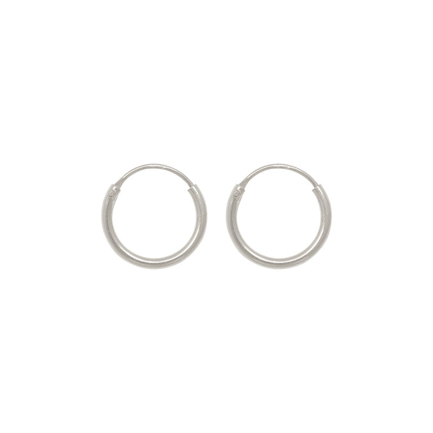 TINY HOOPS 10mm silver