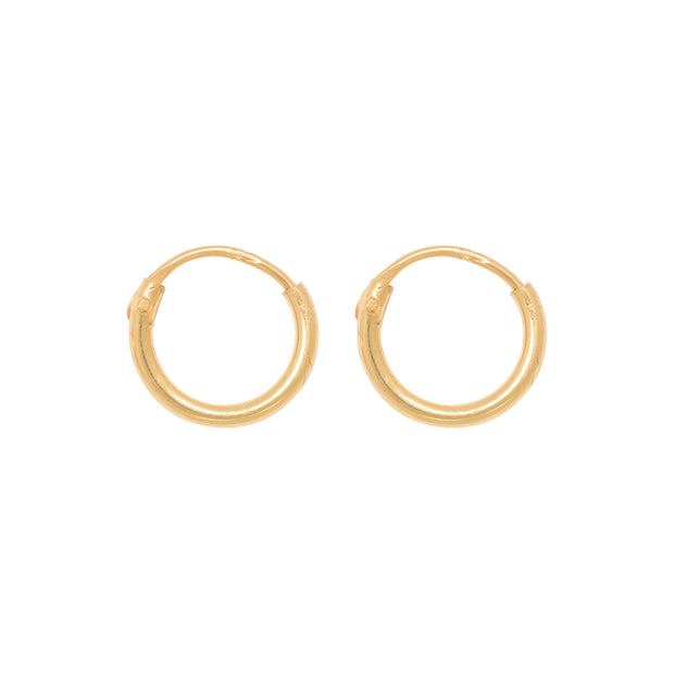 TINY HOOPS 8mm gold