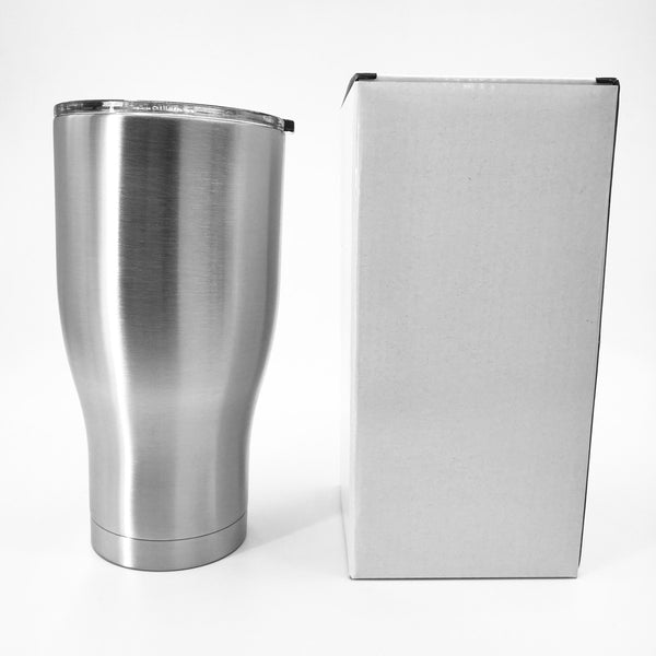 30oz Modern Curve Stainless Steel Vacuum Tumbler (25 PCS)
