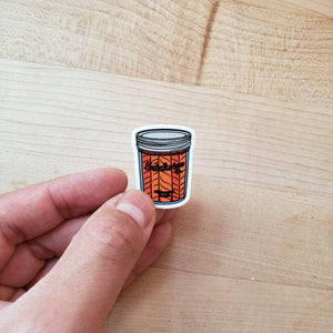 Tiny Salmon Jar Sticker