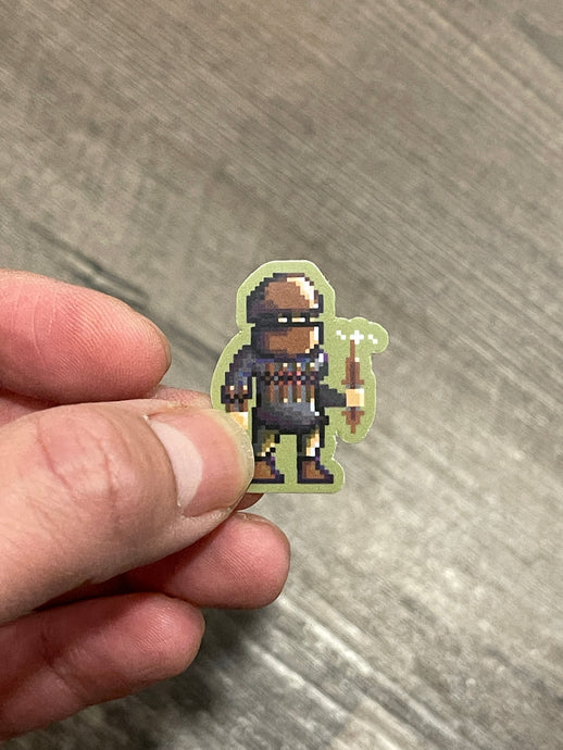 Pixel Warrior (1) Sticker