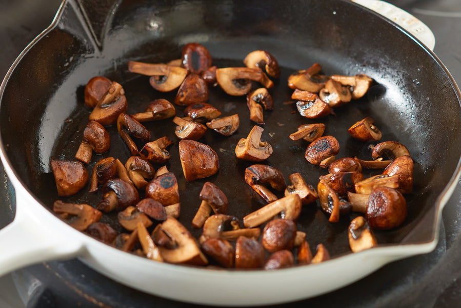 How do you know if a mushroom is cooked?