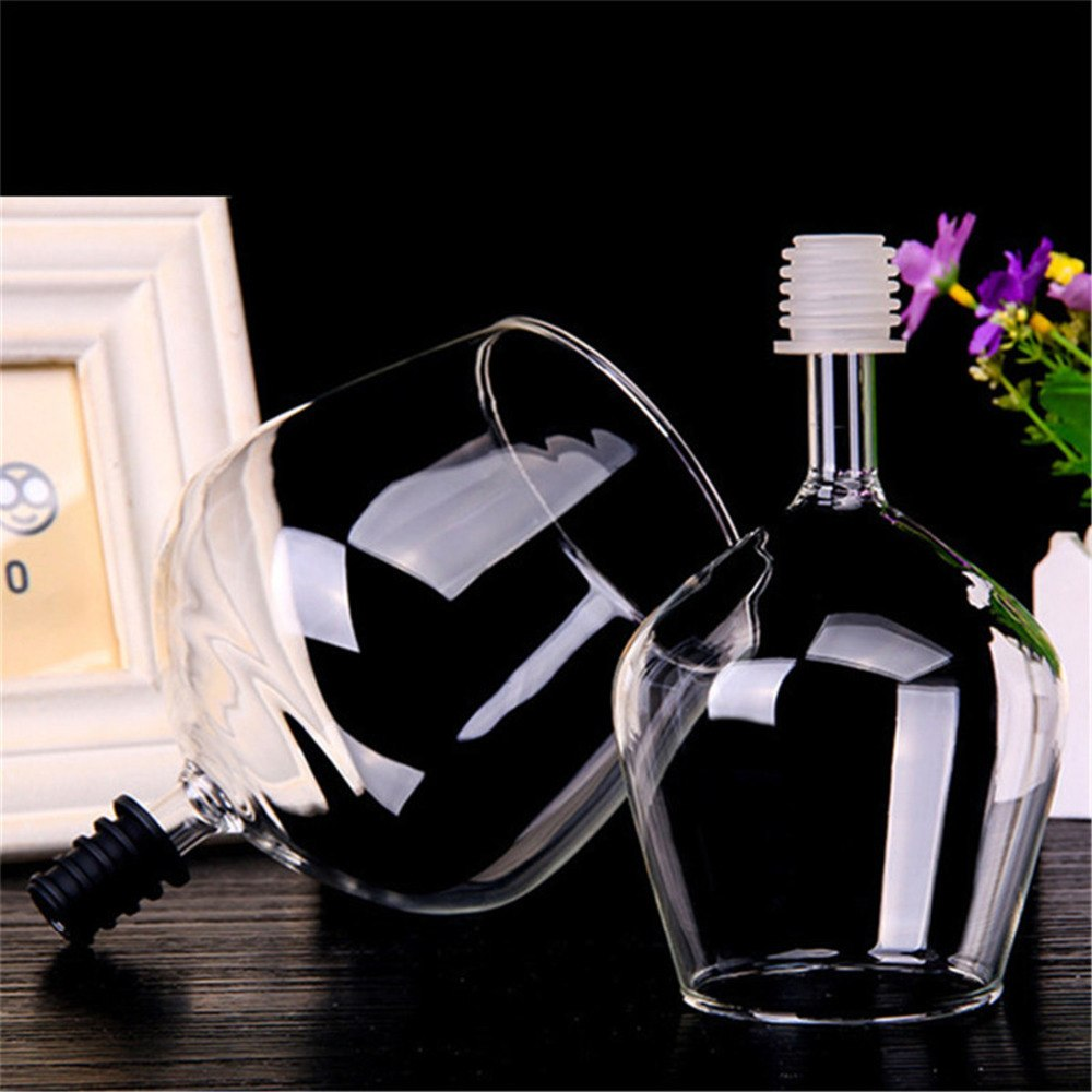 500ml Creative Stemless Wine Glass Straight Drinking Champagne Vodka Whiskey Swig Cup Bottle Wine Stopper Drinkware Bar Tools