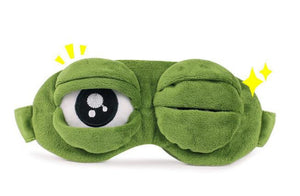 1Pcs/set Cute Pepe the frog Sad frog 3D Eye Mask Cover plush toy Sleeping Funny Rest Sleep Anime Cosplay Accessories Gift