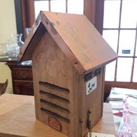 Bug Hotel With Copper Roof - Wall Mount Ready