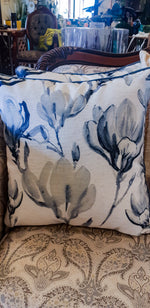 Blue Magnolia Pillows - Mori Gardens