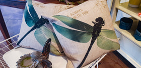 Dragonfly Canvas Pillow - Mori Gardens