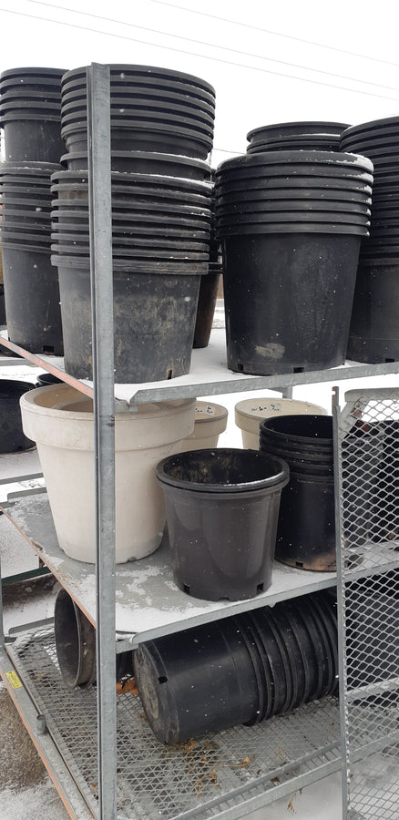 7 Gallon Black Landscaping Pots