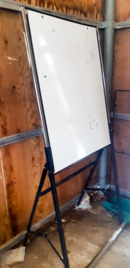 Stand alone white marker board