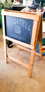 Child's Chalkboard Easel 2 Sided