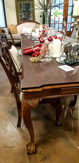 Dining Table Set + 7 Chairs + Dining Hutch