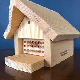 Handmade Bee House for Mason and Leafcutter bees - Mori Gardens