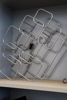 Wine rack, silver square
