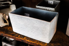 Grey Rectangle pot