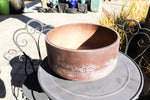 Brown round planter