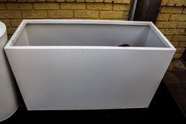 Rectangle metal planter, white paint
