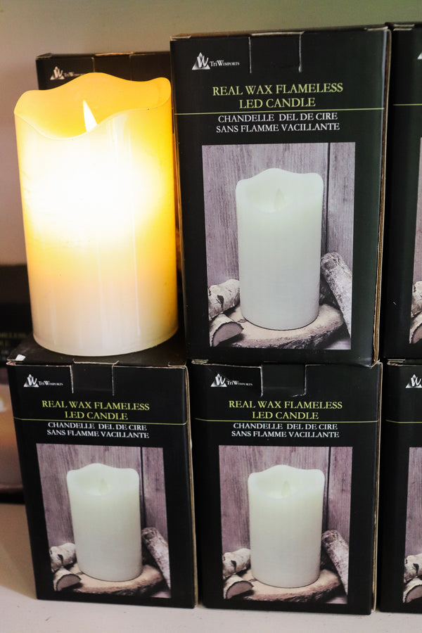 "Real wax flameless led candle 3"" x 6"""