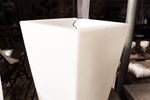 LightUp planter double plastic, white