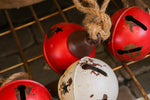 Medium red rustic metal bells
