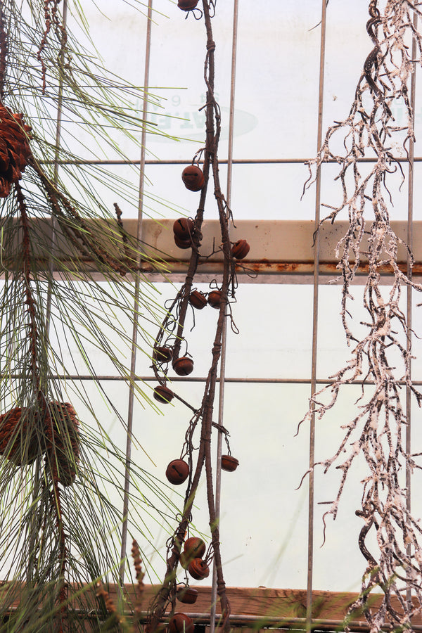 Rustic brown bells on twig