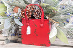 Metal Red Shopping Bag