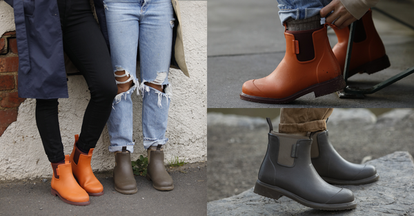 How to Style: Earthy Brown, Orange & Pomegranate Rain Boots - Merry People US