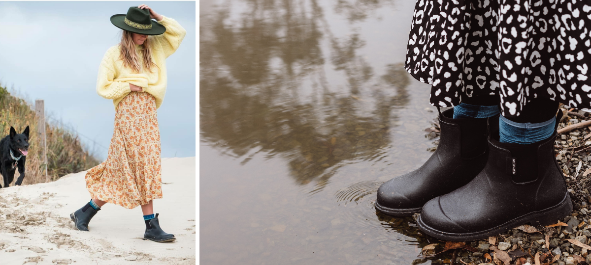 10 Ways to Style your Rain Boots with Skirts and Dresses over Fall & Winter! - Merry People US