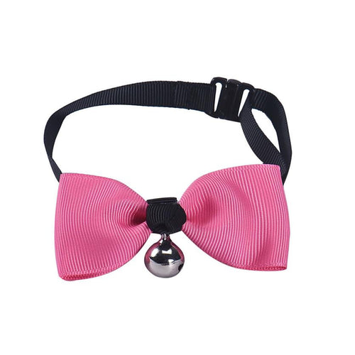 2016 Dog Collars Adjustable Dog Cat Pet Bow Tie With Bell Puppy Kitten Necktie Collar