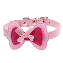 Load image into Gallery viewer, Super Deal  New Double Bowknot Adjustable Pet Collars Cat Dog Puppy Pet Collars XT