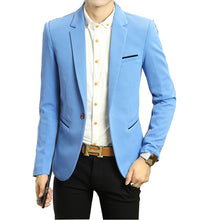 Load image into Gallery viewer, 2018 New Spring Men's Suit coats Korean Slits Single West Slim Youth Leisure male coat Non Ironing Treatment Thickening Hot sale