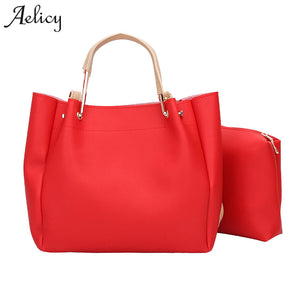 Aelicy Luxury High Quality Women Two Set Handbag Shoulder Bags Women's Casual Leather Tote Handbag Woman Designer Bags Women Bag