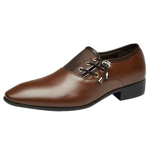Men's Modern Classic Lace Up Leather Lined Perforated Oxfords Shoes