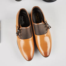 Load image into Gallery viewer, Men's Modern Classic Lace Up Leather Lined Perforated Oxfords Shoes