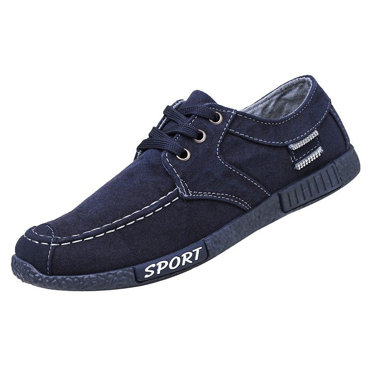 Fashion Denim Canvas Shoes Men's Casual Sports Shoes Low-Top Shoes