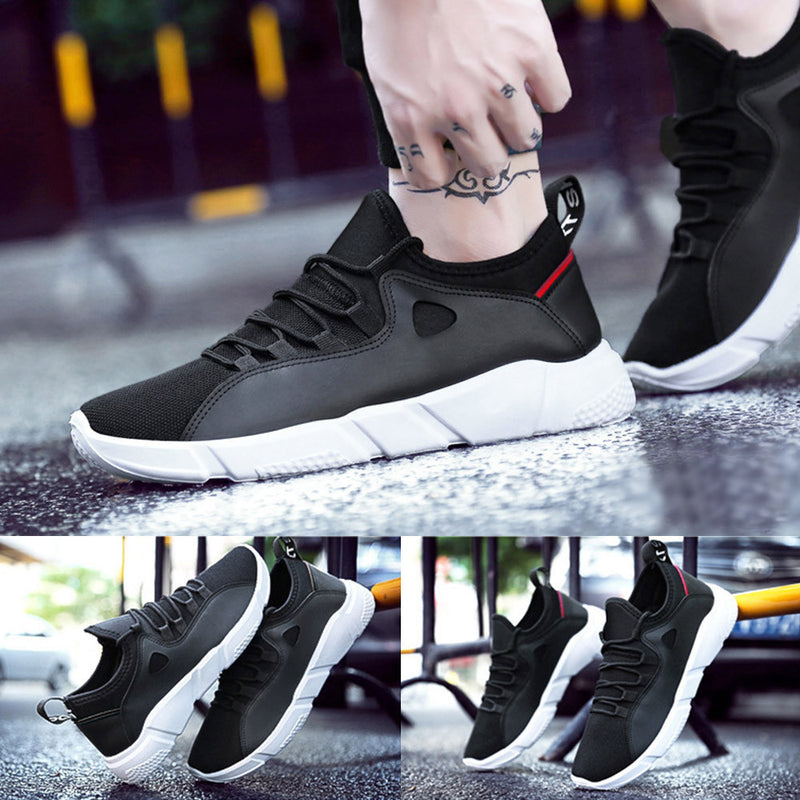Men's Spring Casual Travel Shoes Lace-up Flat With Sport Shoes