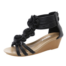 Load image into Gallery viewer, Fashion Women Sandals Summer Shoes Flower Wedges Girl Roman Sandals